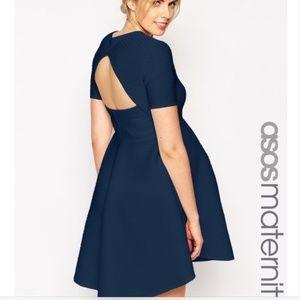 ASOS Maternity Back Cutout Textured Mini Dress